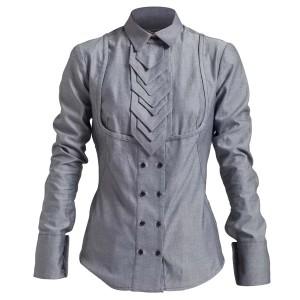 Camisa entallada corbata escamas
