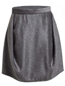 Minifalda pliegues laterales