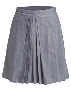 Falda pliegues delantero