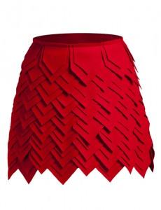 Minifalda escamas
